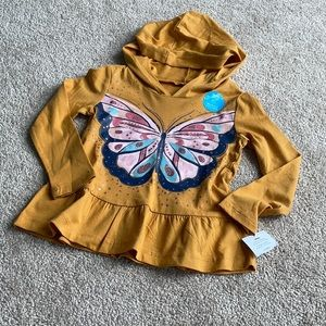 NWT Carter's Hooded Long Sleeve Butterfly 18-24